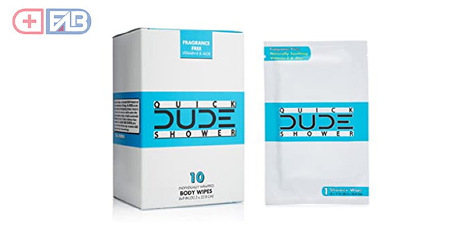 DUDE Quick Shower Body Wipes