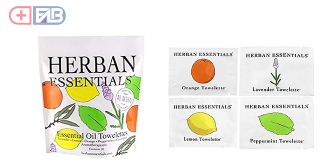 Herban Essentials Assorted Essential Oil Towelettes