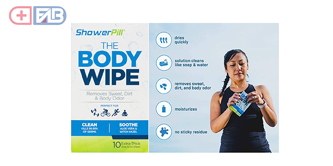 Shower Pill Body Cleaning Wipes